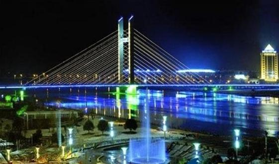 壁纸 大桥 桥 桥梁 夜景 561_331