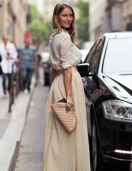 欧美潮人半身长裙街拍 优雅复古迷人眼