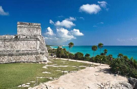 墨西哥 海边 金字塔