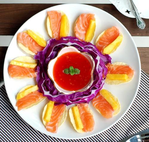 泰式甜辣三文鱼芒果酸甜鱼细腻绵软入口即化