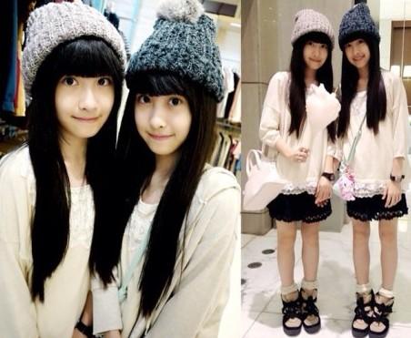 萝莉双胞胎姐妹花近照曝光,不少网友看后表示,依然是这么清新甜美可爱