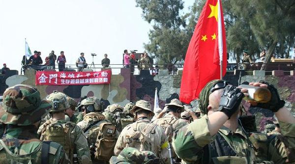 """解放军""""驻台""""""""驻日""""部队云集台湾金门"""