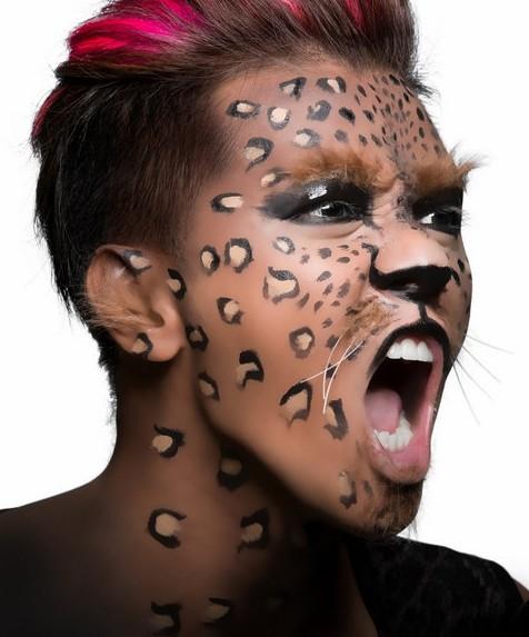 可爱的豹子妆图片