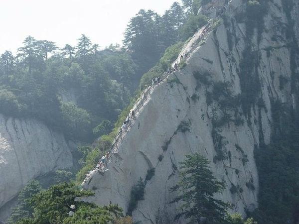 华山那险峻的风景